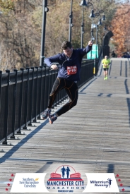 Andrew runs the Manchester Marathon