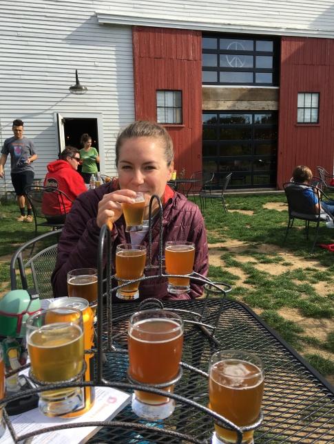 post hike beers