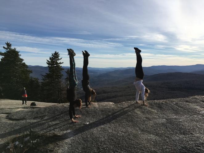 NH Hiking handstands
