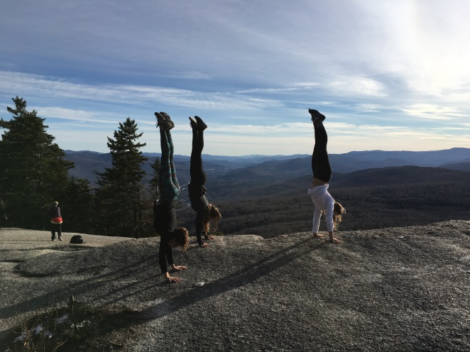 NH Hiking handstands