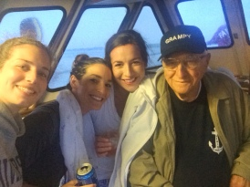 Fishing boat selfies with Grampy