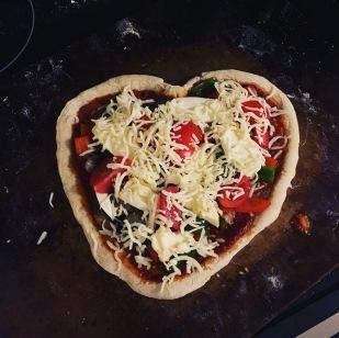 Valentine's pizza tradition