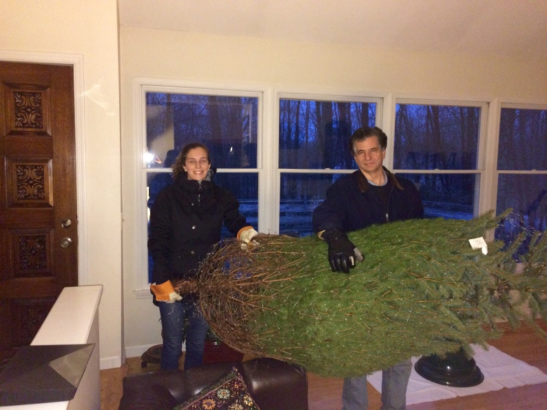 Tree tradition with Dad