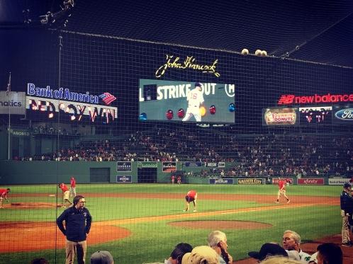 Sox win on my last night in Boston