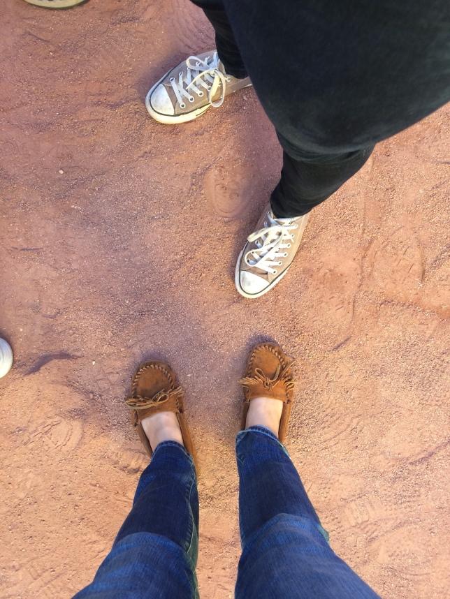 Finally standing on Fenway dirt